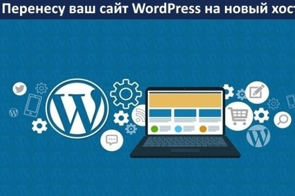 Перенесу Wordpress сайт на другой хостинг или на домен 1 - kwork.ru