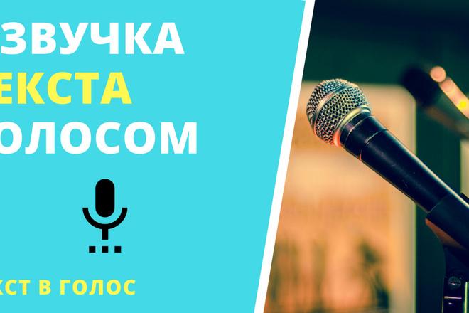 Качественная озвучка текста. Женский - мужской голос. Синтезатор речи 3 - kwork.ru