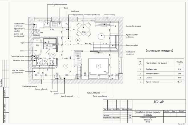 Проект перепланировки квартиры, дома, офиса 2 - kwork.ru