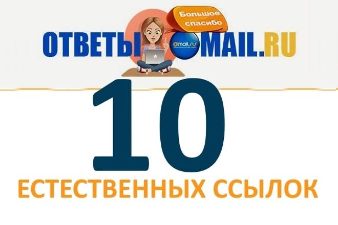 10 крауд-ссылок с otvet. mail.ru 1 - kwork.ru