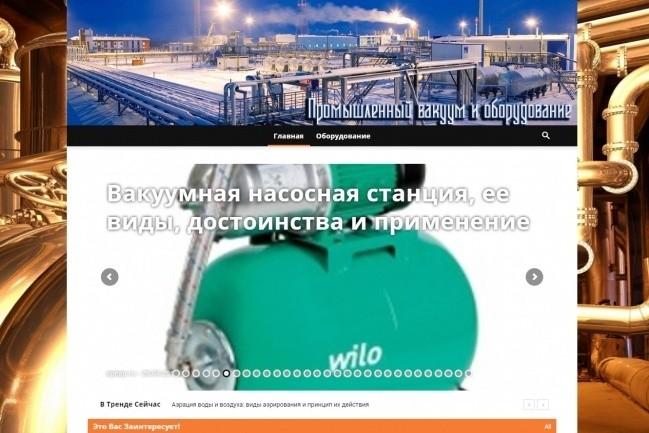 Создам автонаполняемый сайт на WordPress, Pro-шаблон в подарок 41 - kwork.ru