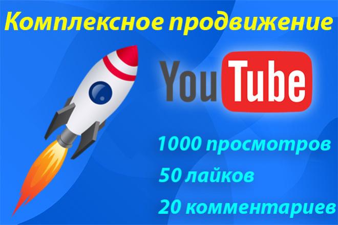 Комплексное продвижение видео на Youtube просмотры, лайки, комментарии 1 - kwork.ru