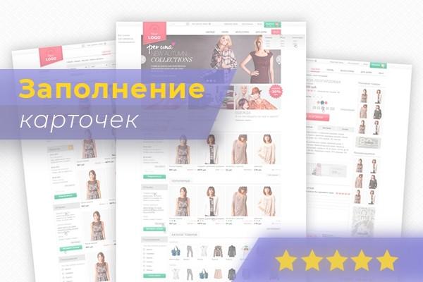 Наполню магазин 100 товарами 1 - kwork.ru