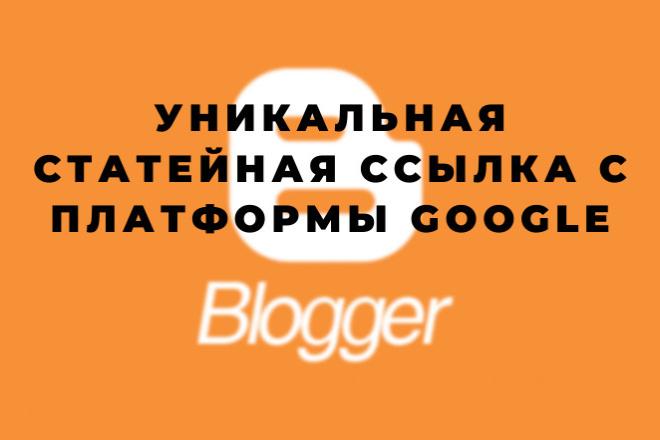 Уникальная Web2.0 ссылка в статье с платформы blogger.com 1 - kwork.ru