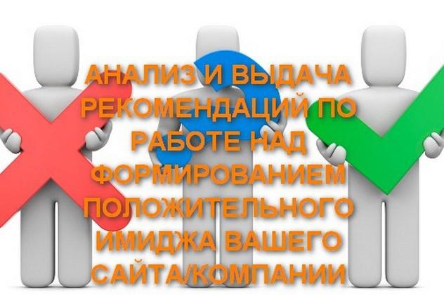 Анализ и выдача рекомендаций по работе над положительной репутацией 1 - kwork.ru
