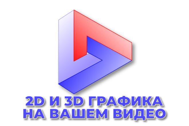 2D и 3D графика на вашем видео 1 - kwork.ru