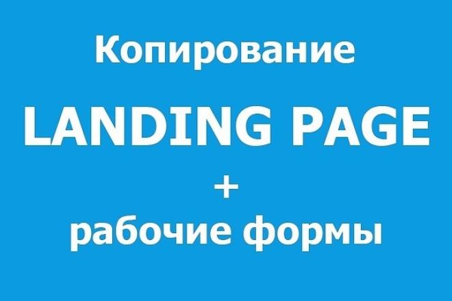 Сделаю копию понравившегося Вам одностраничного сайта landing page 1 - kwork.ru