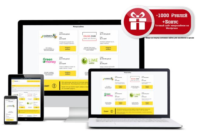 Сайт Финансовая витрина WordPress + Бонус 1 - kwork.ru