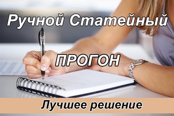 Ручной статейный прогон по 40 сайтам + написание статьи, вечные ссылки 1 - kwork.ru