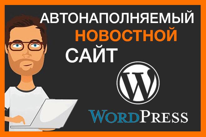 Продам автонаполняемый новостной сайт 1 - kwork.ru