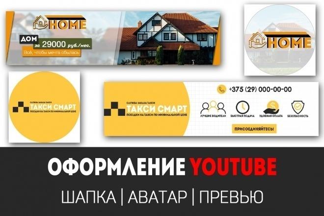 Дизайн шапки для канала YouTube 5 - kwork.ru