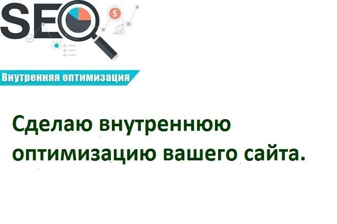 Сделаю внутреннюю оптимизацию сайта 1 - kwork.ru