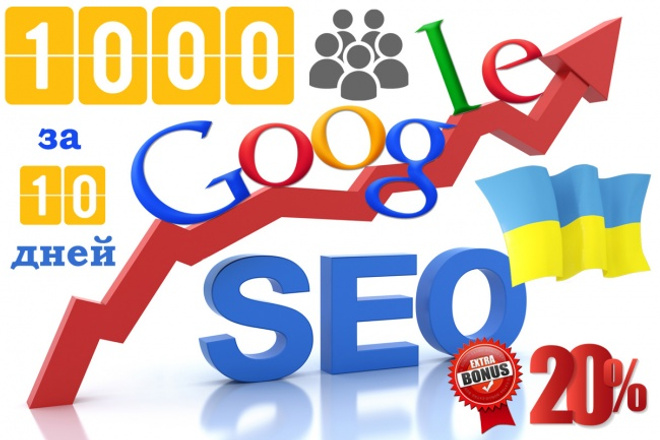 1 000 уникальных посетителей на сайт за 10 дней с Google Украина 1 - kwork.ru