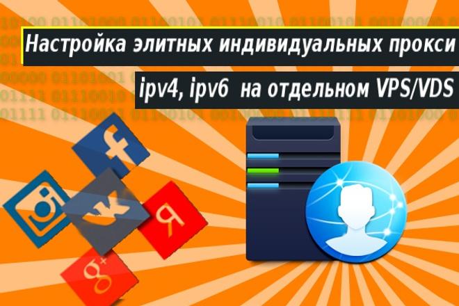 Настрою 500 индивидуальных прокси ipv4 или ipv6 1 - kwork.ru