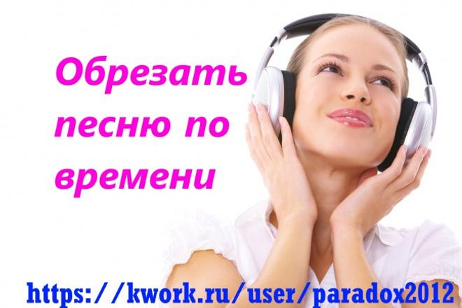 Обрежу любой участок аудиофайла 1 - kwork.ru