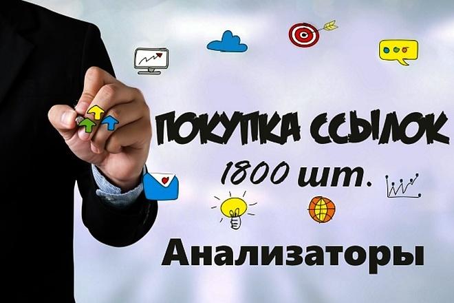 1800 ссылок с анализаторов для сайта 1 - kwork.ru