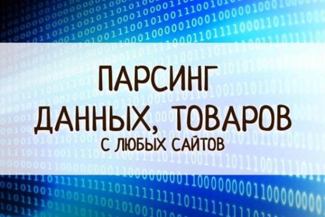 Парсинг любых сайтов, товаров. Сбор данных 1 - kwork.ru