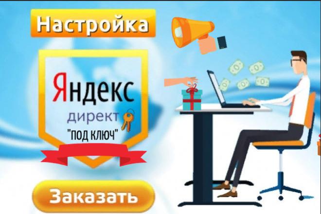 Настройка под ключ рекламы в Яндекс Директ Поиск или РСЯ 1 - kwork.ru