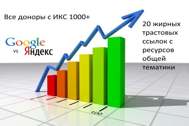 20 жирных ссылок с трастовых сайтов c ИКС 1000+ 1 - kwork.ru