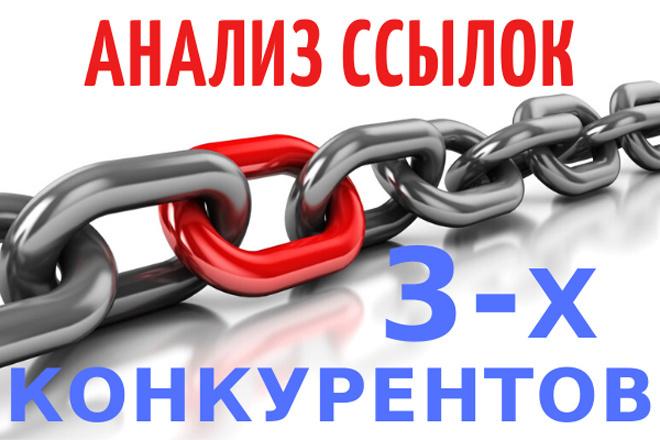 Анализ ссылок 3-х конкурентов, продвигаемых страниц и анкоров 1 - kwork.ru