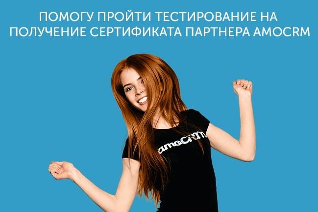 Подготовлю Вас к тестированию партнера amoCRM 1 - kwork.ru