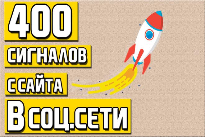 400 сигналов с вашего сайта в соц. сети - с полным отчетом 1 - kwork.ru