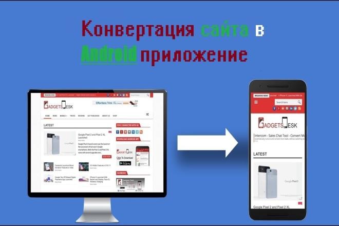 Конвертация вашего сайта в удобное Android приложение и тестирование фото