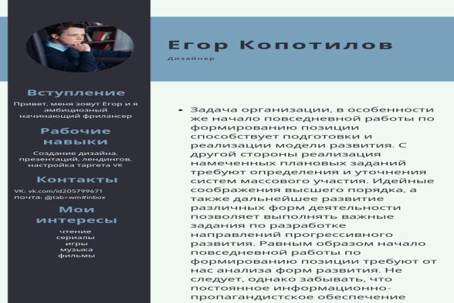 Оформление резюме 1 - kwork.ru