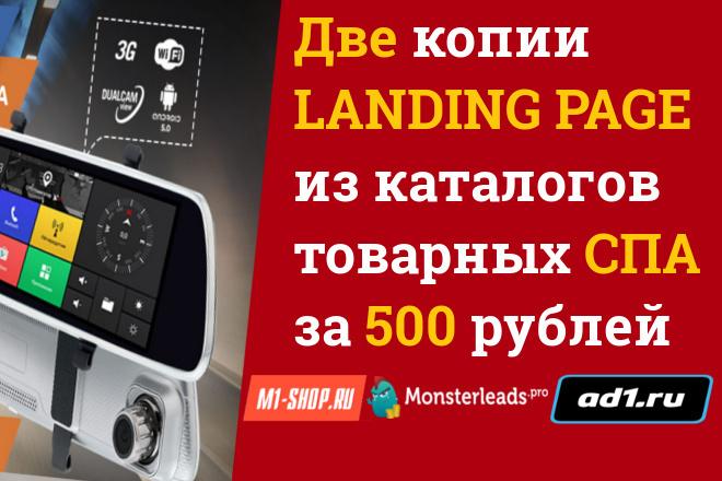Копии двух лендингов из каталогов товарных CPA за 500 рублей 21 - kwork.ru