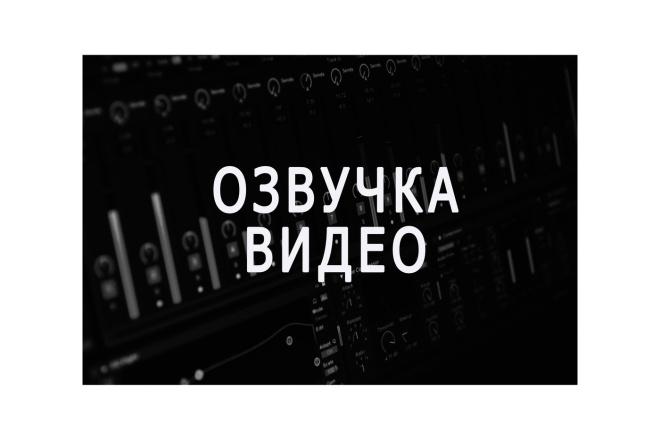 Озвучка видео 1 - kwork.ru