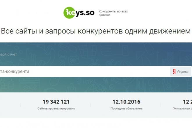 Выгружу запросы конкурентов из сервиса Keys. so 1 - kwork.ru
