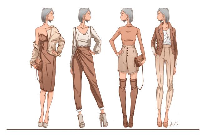 Эскиз одежды фото
