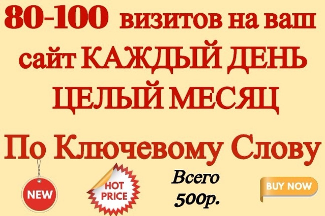 80-100 посетителей на Ваш сайт по ключевому слову 1 - kwork.ru