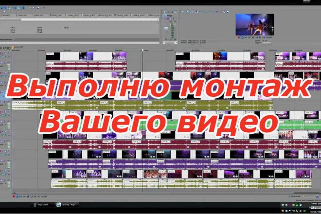 Выполню монтаж Вашего видео. Инфографика, анимация, красивые переходы 1 - kwork.ru