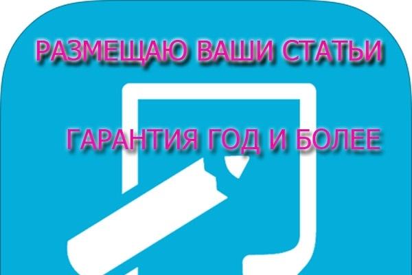 Размещу 10 Ваших статьей на сайтах небольших фирм в статейных разделах 1 - kwork.ru