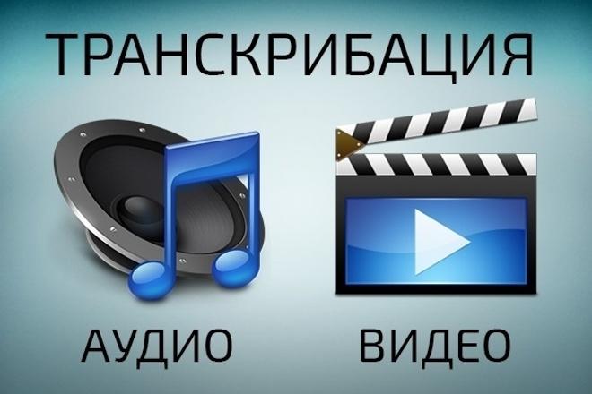Транскрибация аудио, видео в текст. До 50 минут 1 - kwork.ru