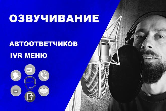 Профессионально озвучу Автоответчик, IVR меню 1 - kwork.ru