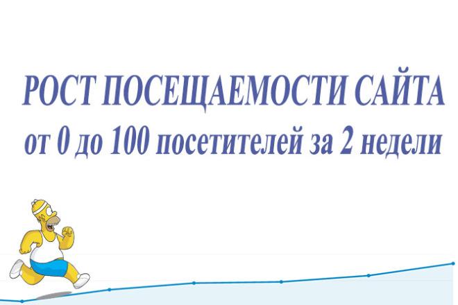 Рост посещаемости от 0 до 100 посетителей за 2 недели 1 - kwork.ru