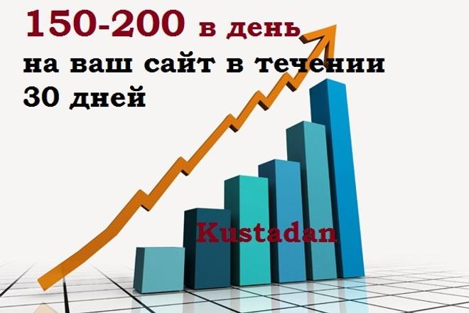 Увеличу трафик сайта на 150-200 человек в день в течение 30 дней 1 - kwork.ru