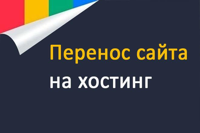 Перенос или загрузка сайта на хостинг 1 - kwork.ru