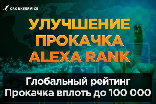 Улучшение и прокачка Alexa Rank до 1 млн 1 - kwork.ru