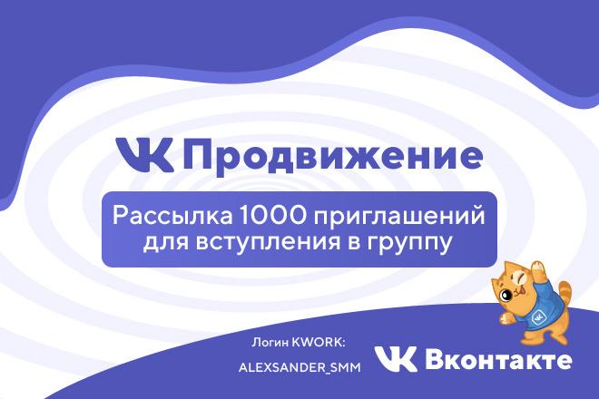 Рассылка 1000 приглашений для вступления в группу 1 - kwork.ru