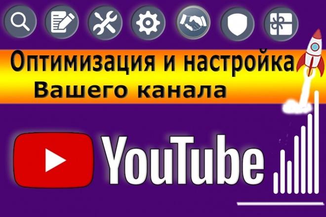 Оптимизация и настройка канала YouTube 1 - kwork.ru