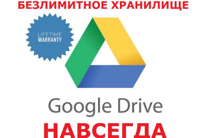 Безлимитный Google Диск Навсегда фото