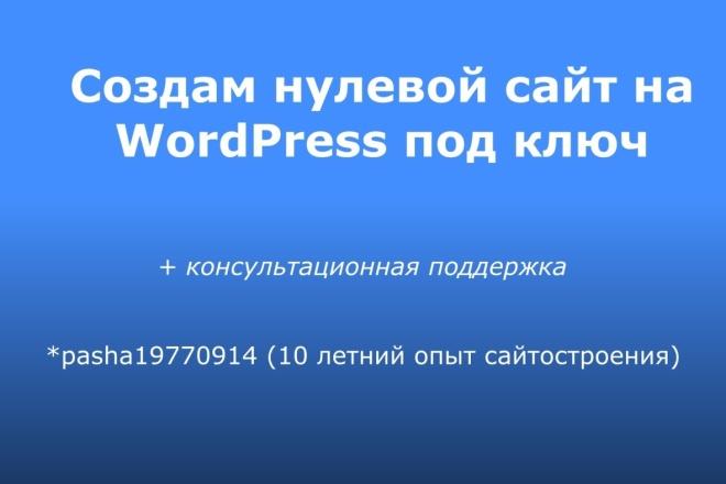 Создам нулевой сайт под ключ на WordPress 6 - kwork.ru