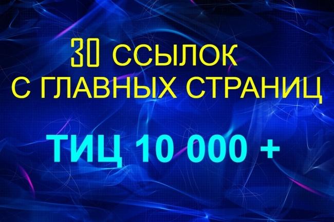 30 ссылок с главных страниц 30 сайтов 1 - kwork.ru