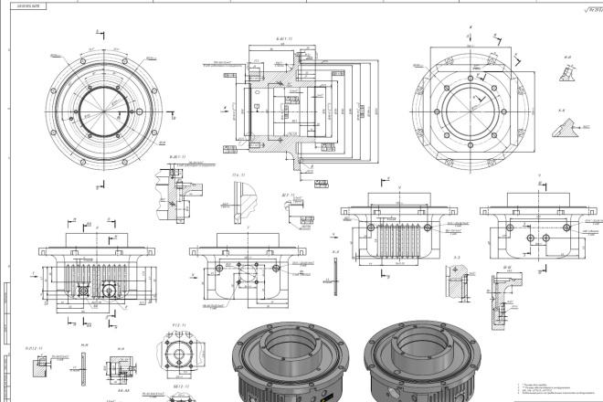 Разработка сложных технических проектов. Оцифровка чертежей. Расчеты 4 - kwork.ru