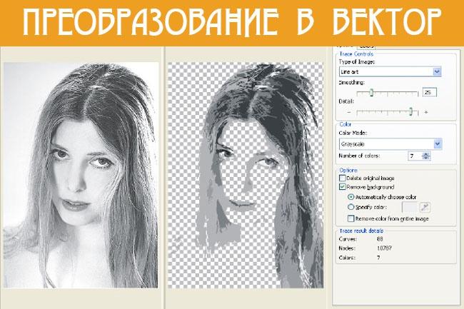 Преобразование картинки в векторную