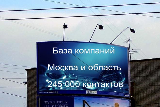 База компаний Москвы и МО. 245000 контактов 1 - kwork.ru