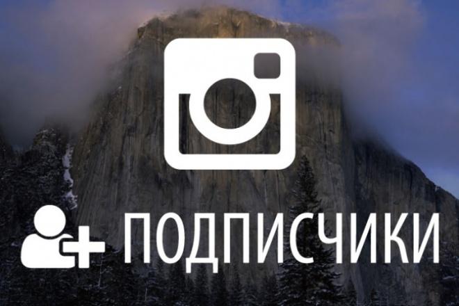 +500 подписчиков на ваш аккаунт Instagram 1 - kwork.ru